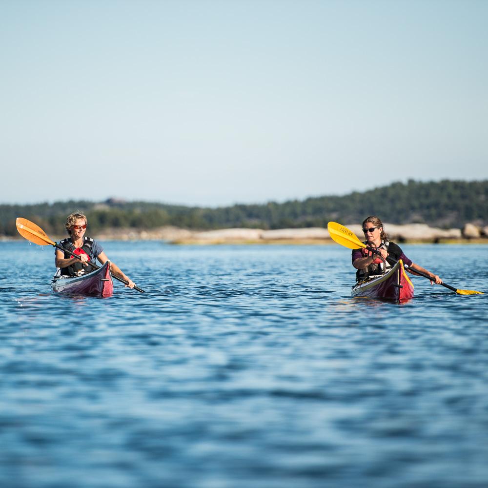 Self guided kayaking in Stockholm