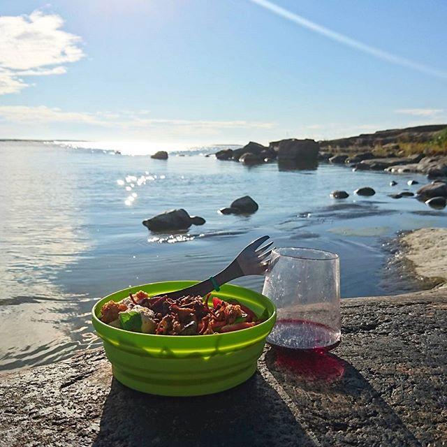 Kayak food in the Stockholm Archipelago
