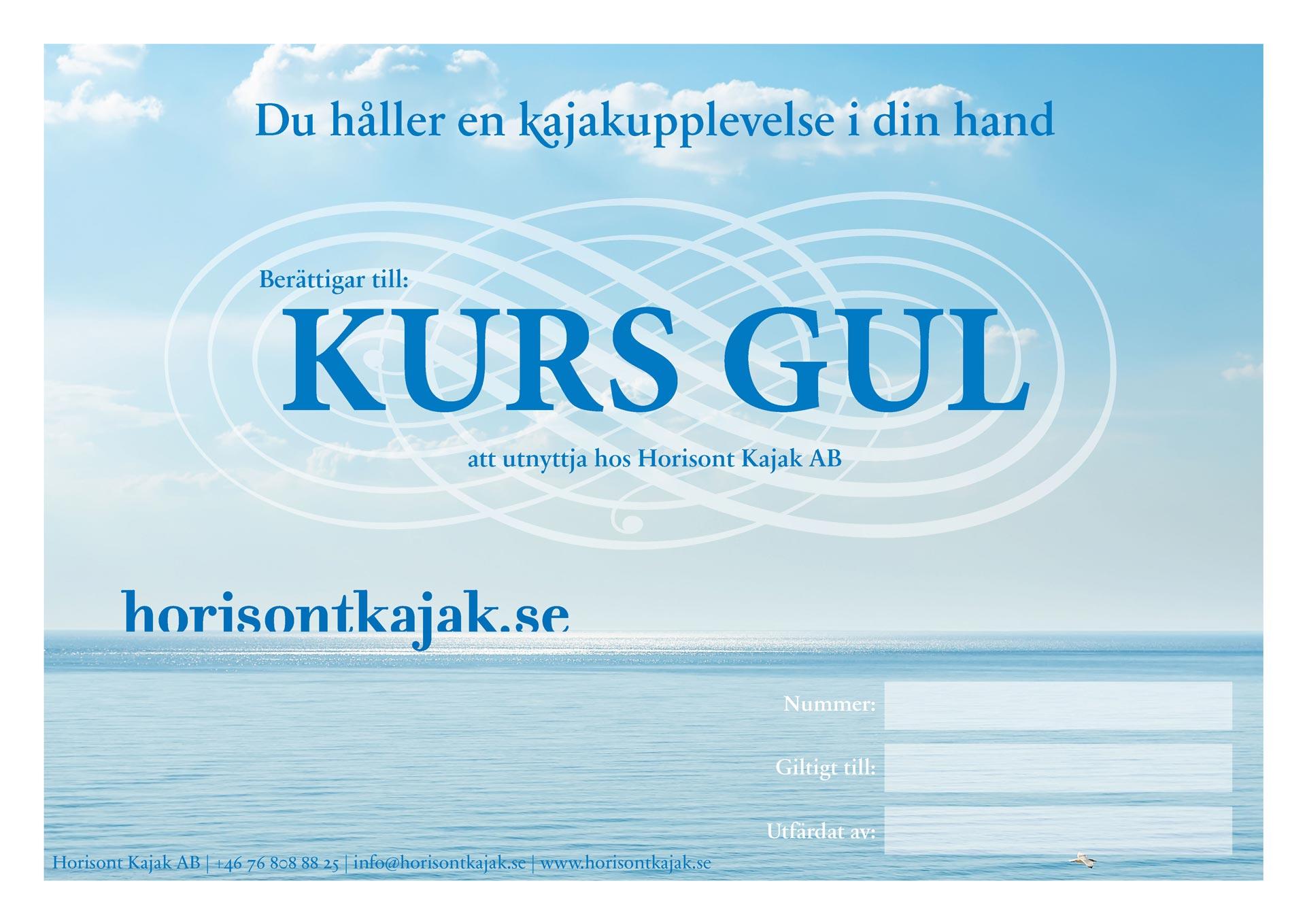 Presentkort på kurs i Gult Paddelpass
